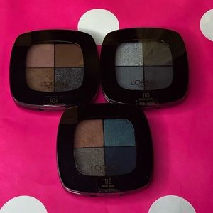 3 Set L'Oréal Eyeshadow Quads Seal Intact NEW